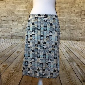Maxstudio.com hearts and square print skirt